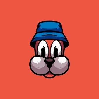 Mascotte de chapeau de chien esport