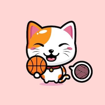 Mascotte de chat mignon