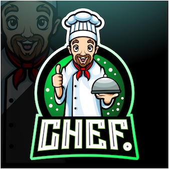 Mascotte de chef. création de logo esport