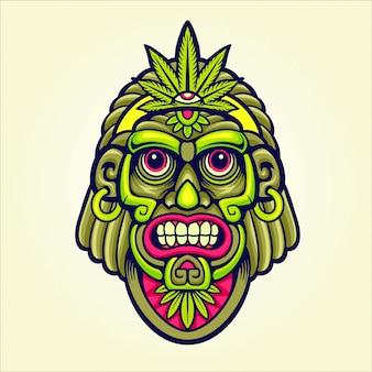Mascotte de chef de marijuana