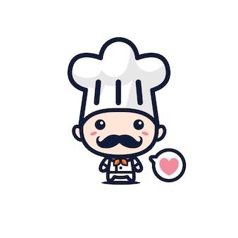 Mascotte de chef mignon