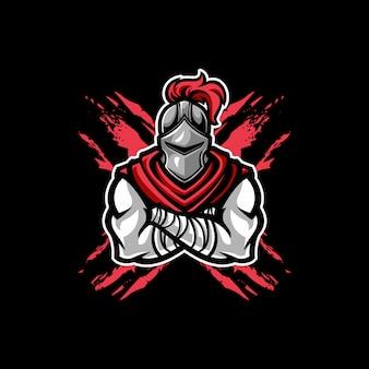 Mascotte de chevalier guerrier