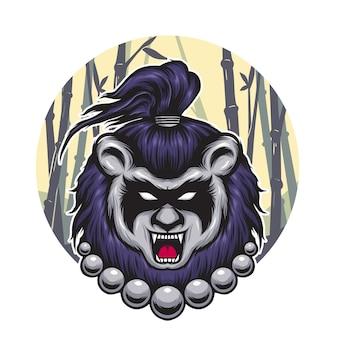 Mascotte de cheveux de panda