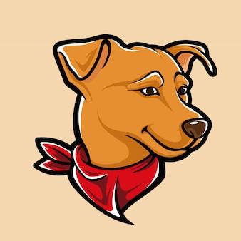 Mascotte de chien mignon