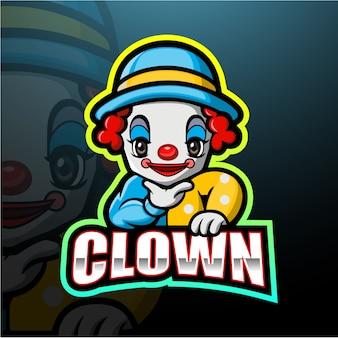 Mascotte de clown esport illustration