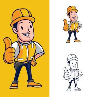 Mascotte de construction