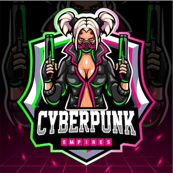Mascotte de cyberpunk. logo esport