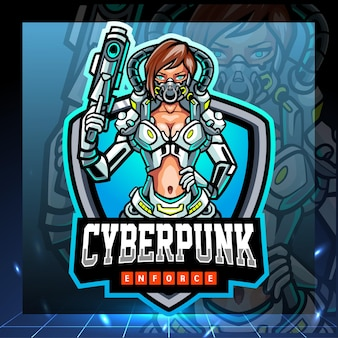Mascotte de cyberpunk