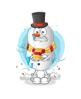 Mascotte de dessin animé froid bulgogi