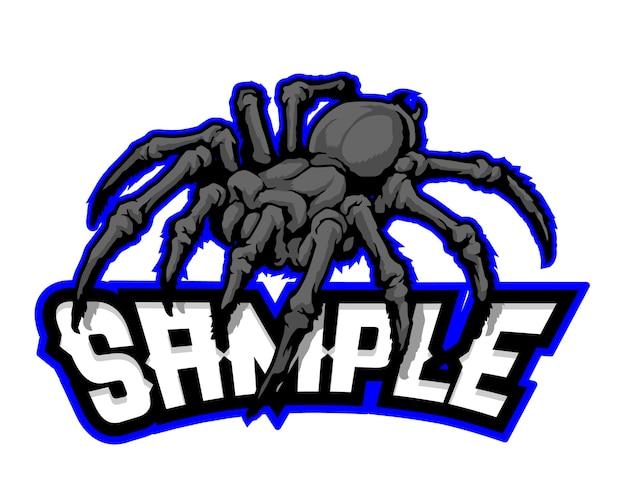 Mascotte de dessin animé noir araignée