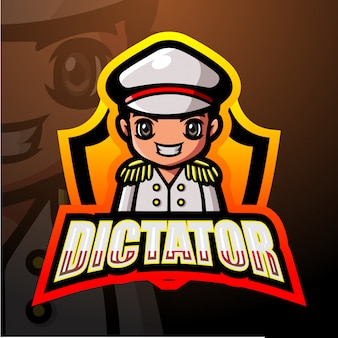 Mascotte de dictateur esport illustration