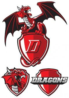 Mascotte de dragon en paquet