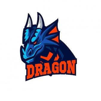 Mascotte de dragon de style esports