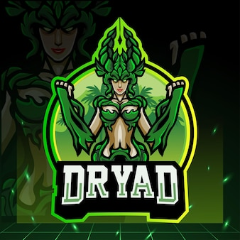 Mascotte de dryade. création de logo esport