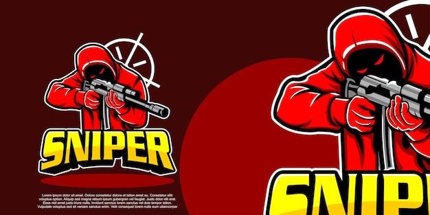 Mascotte du logo esport de tireur d'élite