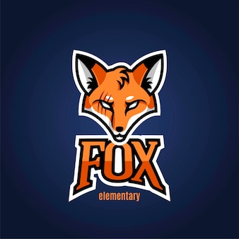 La mascotte du logo est un renard pour le sport. illustration vectorielle.