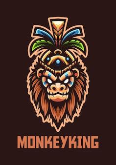 Mascotte du roi singe pour le logo de l'équipe e-sport et sport