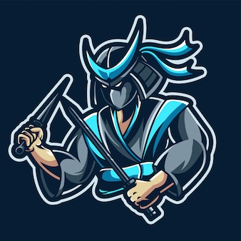 Mascotte e-sport ninja assassin