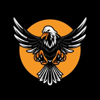 Mascotte eagle e sport