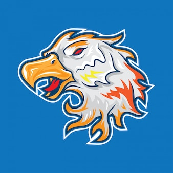 Mascotte eagle head