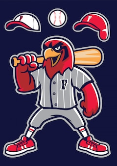 Mascotte de faucon de baseball