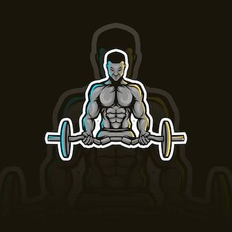 Mascotte de fitness gym