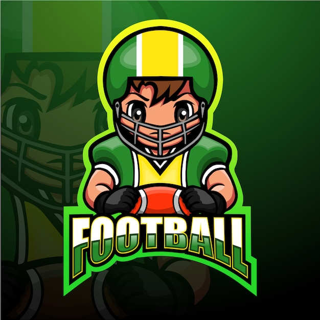 Mascotte de football américain esport illustration
