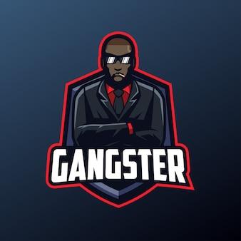 Mascotte de gangster pour logo sports et esports isolé