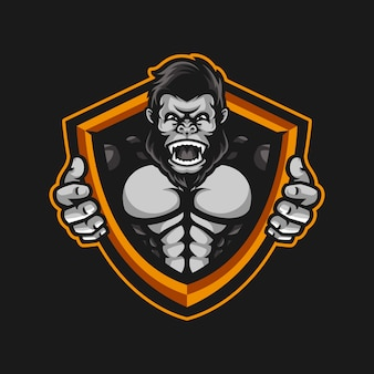 Mascotte gorille