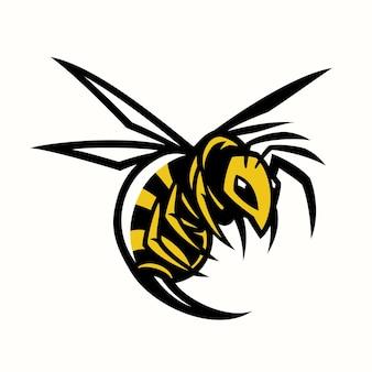 Mascotte de guêpe frelon abeille
