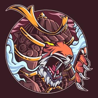 Mascotte de guerrier tigre