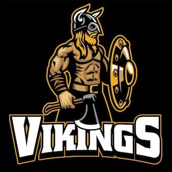Mascotte de guerrier viking
