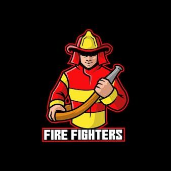 Mascotte de héros de sauvetage chaud dangereux de pompier
