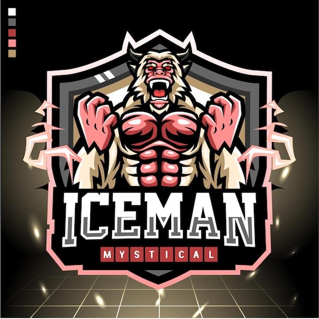 Mascotte de l'homme des glaces. logo esport