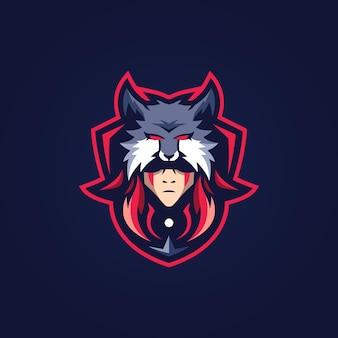 Mascotte d'homme-loup