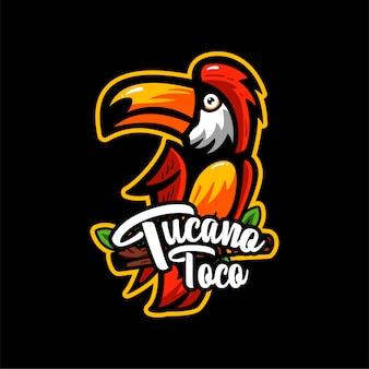 Mascotte d'illustration de tucano toca