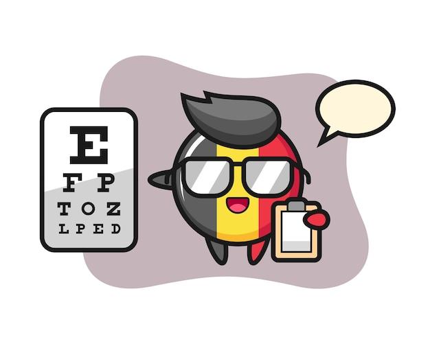 Mascotte d'insigne du drapeau belge comme ophtalmologie