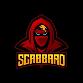 Mascotte de jeu de logo esports ninja