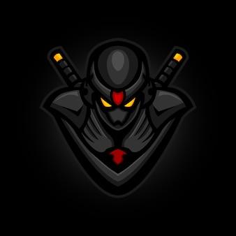 Mascotte de jeu de logo de sport ninja e