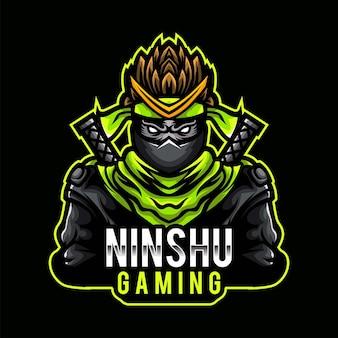 Mascotte de jeu ninja