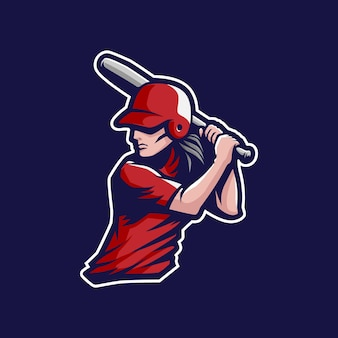 Mascotte de joueur de baseball fille