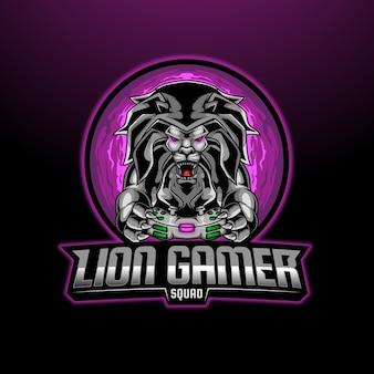 Mascotte de joueur de lion esport