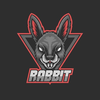 Mascotte de lapin pour logo de jeu