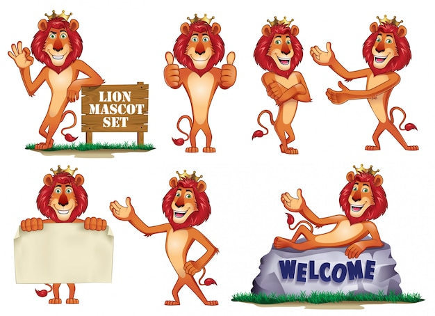 Mascotte lion dessin animé