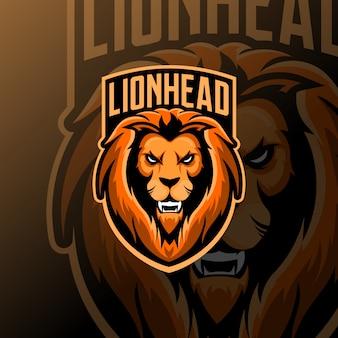 Mascotte lion esport logo