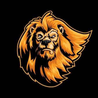 Mascotte de lion head logo