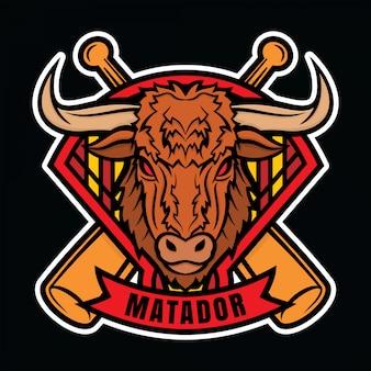 Mascotte logo baseball matador