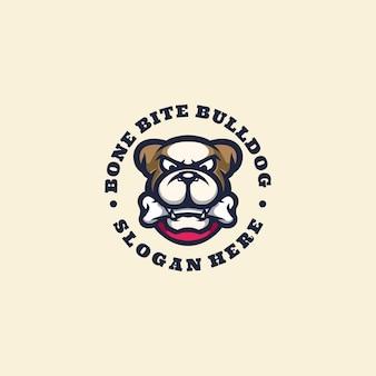 Mascotte de logo de bouledogue