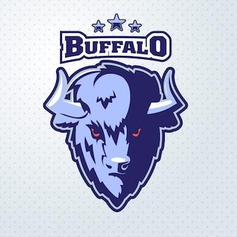 Mascotte de logo buffalo head