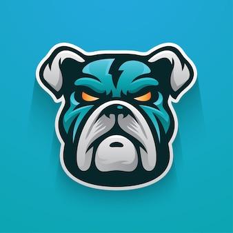 Mascotte de logo bulldog thunder